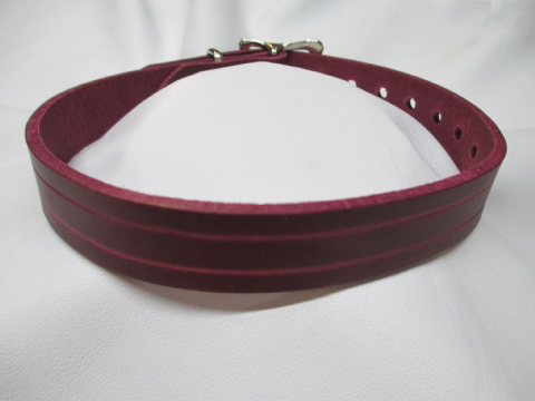 Minimalist double groove 18mm Leather Day Collar/Choker
